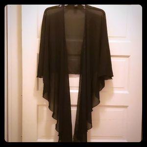 Black Sheer Wrap
